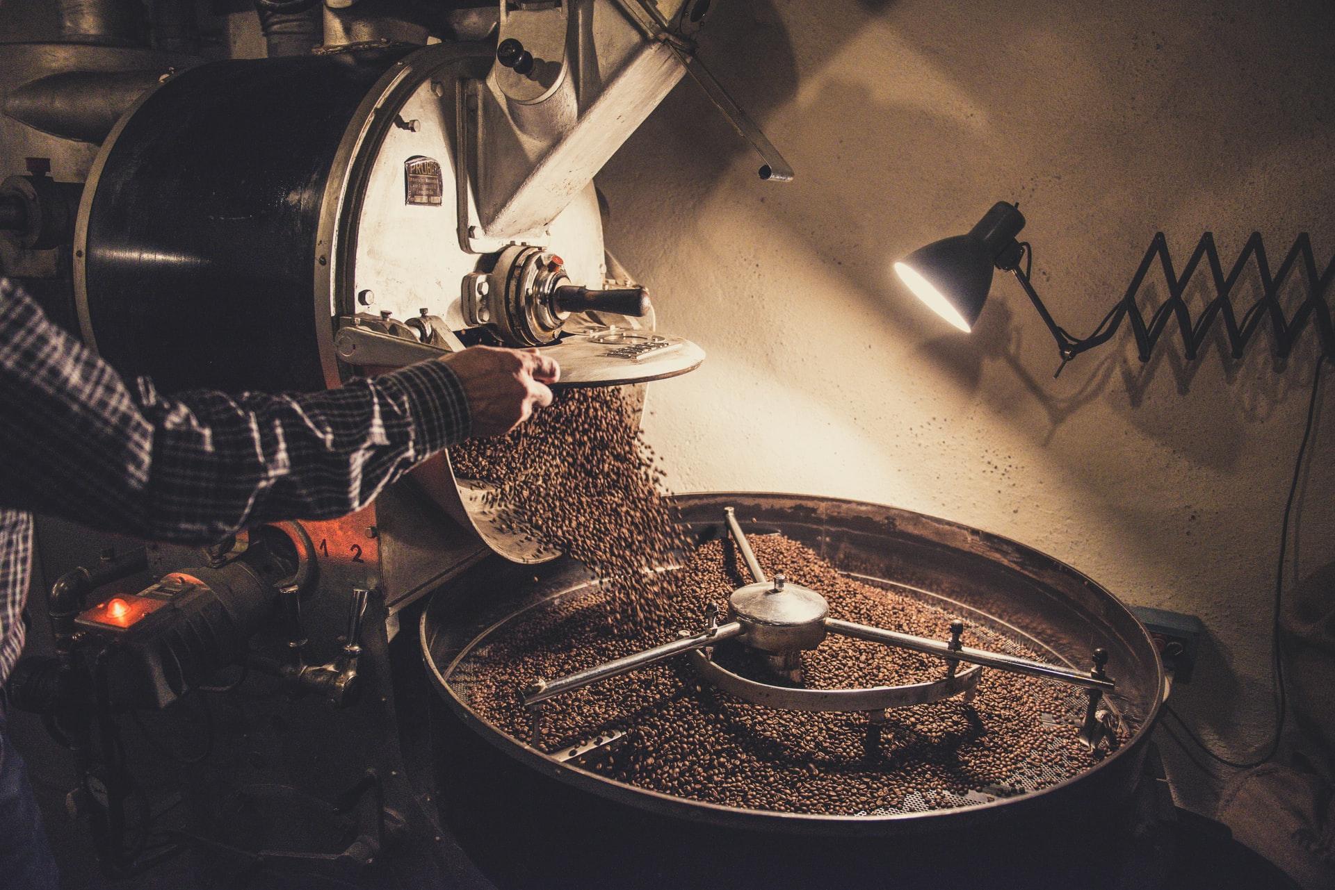 Kaffeeröstung in einer Kaffee Manufaktur